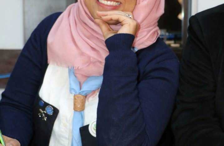 """"""" أحلام البدري """" نائبة لمفوض الاعلام بمكتب رواد كشاف ومرشدات ليبيا"""