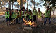 مجموعة عائدون الكشفية تنفذ رحلة خلوية الى احراش مخيم الفوار
