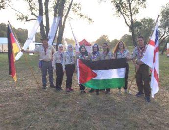 مشاركة فلسطينية مميزة في الجامبوري الكشفي الأوروبي المركزي