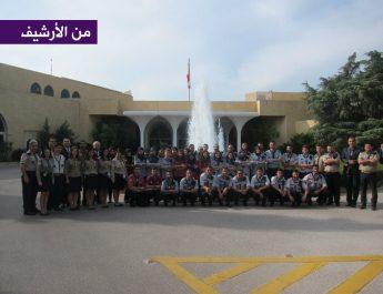 اين اتحاد كشاف لبنان في عرض الاستقلال وتهنئة القصر الجمهوري