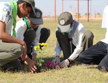 كشافة وادي الدواسر يغرسون 1000 شجرة في المشروع الكشفي لنظافة البيئة وحمايتها