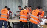 مجموعة خليل الرحمن الكشفية تتميز في افطار جمعية الاحسان الخيرية