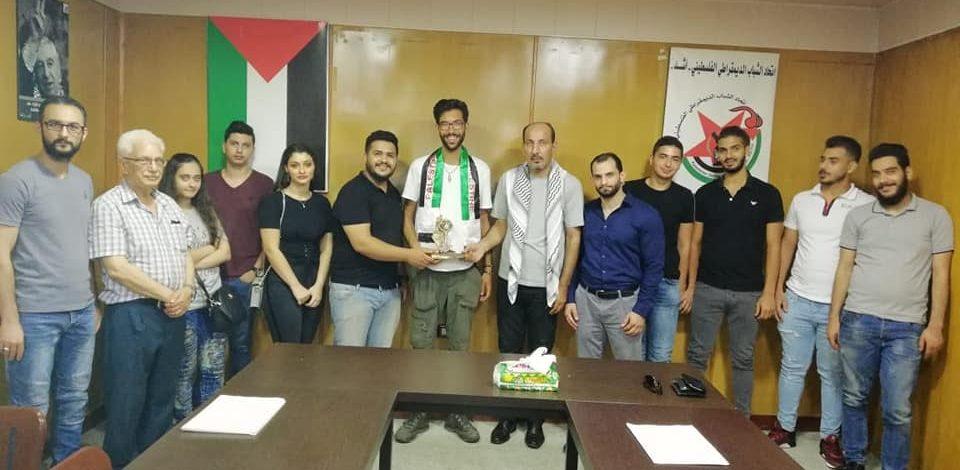 """""""أشد """" يستقبل الناشط السويدي بنيامين لادرا بمقره في بيروت"""