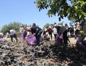 """بالتعاون مع سلطة جودة البيئة مفوضية محافظة الخليل تشارك في نشاط بعنوان """" التغلب على التلوث البلاستيكي"""""""