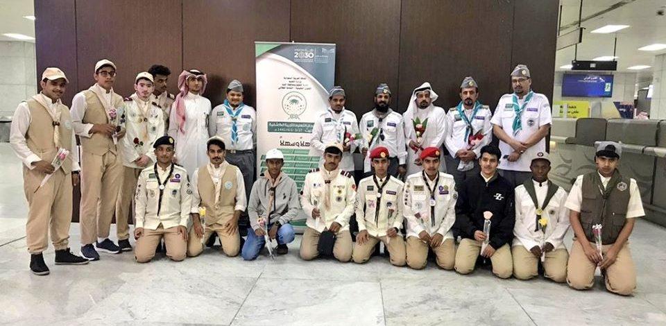 """120 كشاف يمثلون إداراتهم التعليمية في """" مهرجان التعليم للتربية الكشفية """" بالليث"""