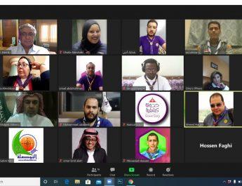 الإقليم الكشفي العربي يعقد إجتماعا إفتراضيا مع مسؤولي المواقع الكشفية المستقلة